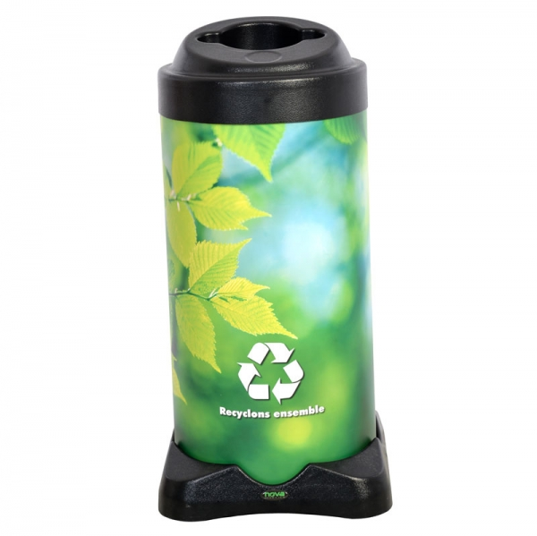 Corbeille poubelle dechets recyclage bin receptacle container recycling waste litter Nova Mobilier Nexus web 8